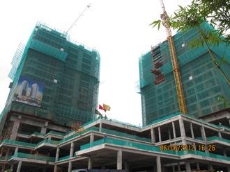 Hoàn thành sàn 20 khối căn hộ